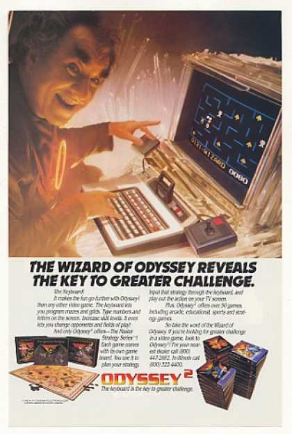 Odyssey Video Game System Keyboard Wizard (1982)