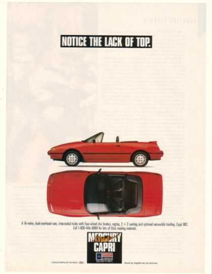 Red Mercury Capri XR2 Notice Lack of Top (1990)