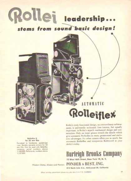 Rolleiflex Camera Camera – Leadership... stems from sound basic design (1951)