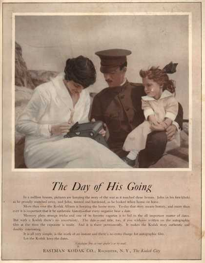 Kodak's Autographic Film – The Day of His Going (1918)