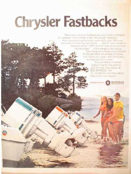 Chrysler Marine Outboard Boat Motor Fastbacks (1970)