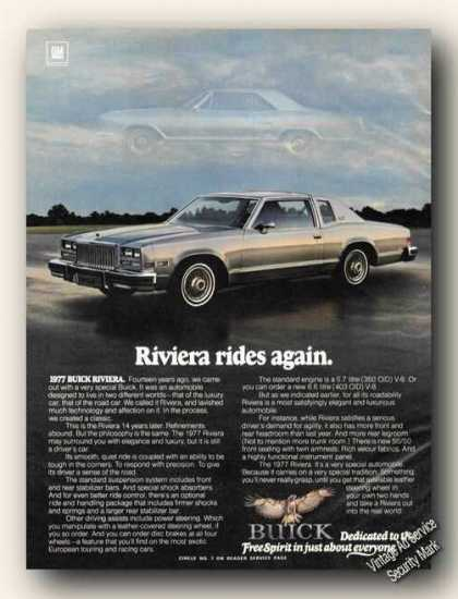 Buick Riviera Nice Color Photo (1977)