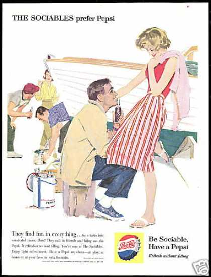 Pepsi Cola Be Sociable Boat Painting (1960)