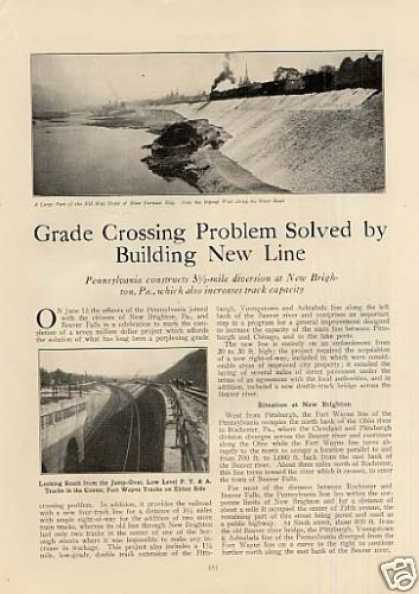 """Problem Solved By Building New Line"" Article/prr (1926)"
