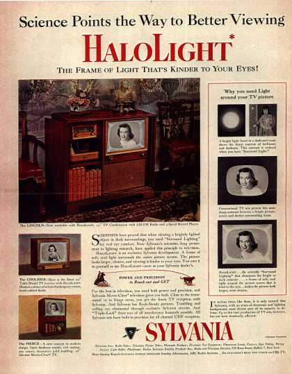 Sylvania Electronic Product's Television – Science Points the Way to Better Viewing, HaloLight (1952)