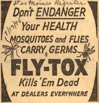 Unknown's Fly-Tox – Don't Endanger Your Health (1946)