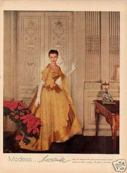 Modess Ad Lady In Gold Gown (1954)