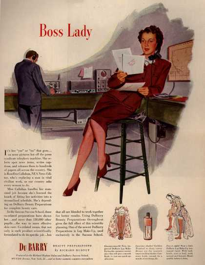 Richard Hudnut's DuBarry Leg Make-up – Boss Lady (1944)