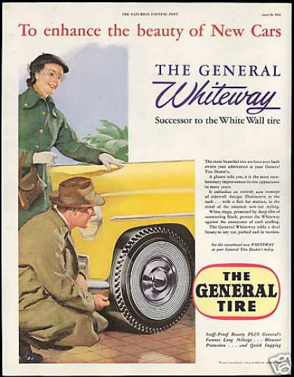 General Whiteway Car Tire Vintage (1952)