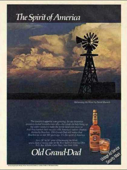 """The Spirit of America"" Old Grand-dad Bourbon (1985)"