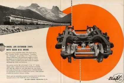 Budd CenterfCanadian Pacific/disc Car Brake (1957)