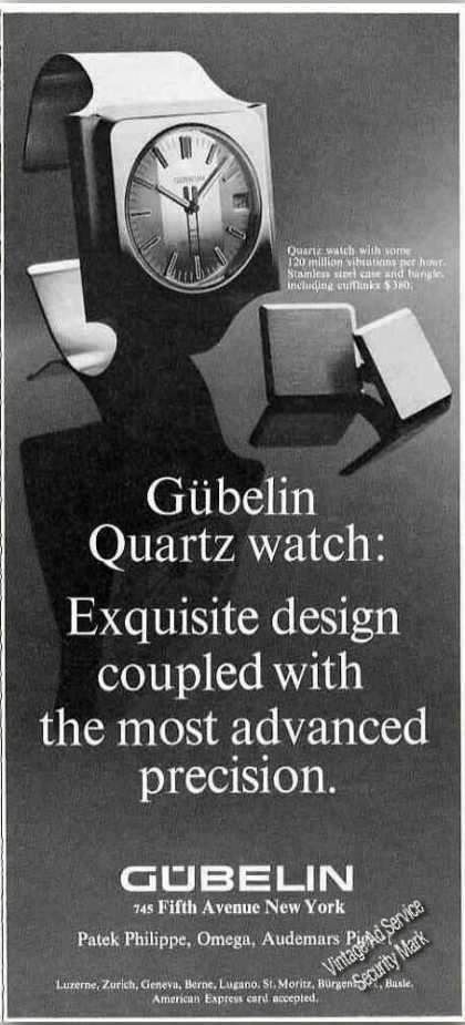 Gubelin Quartz Watch Photo Fifth Ave Ny (1974)