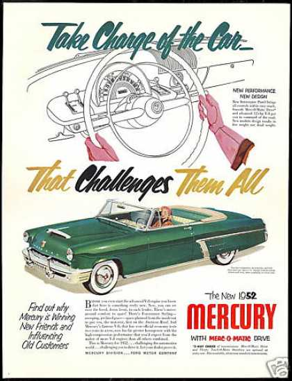 Mercury Monterey Convertible Car Vintage (1952)