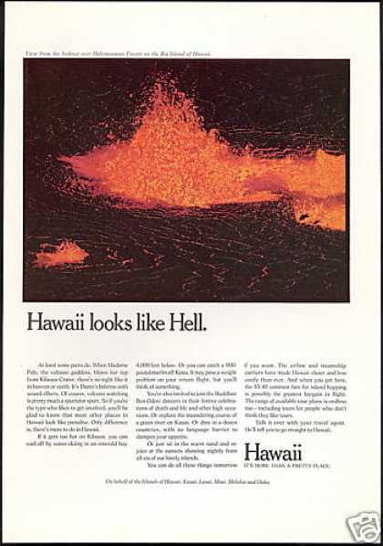 Hawaii Travel Kilauea Crater Volcano (1971)