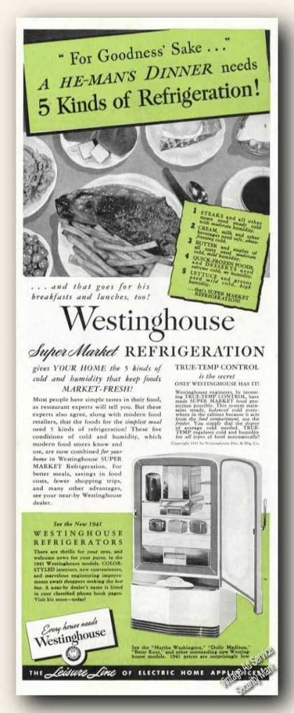 Westinghouse Super Market Refrigeration Antique (1941)