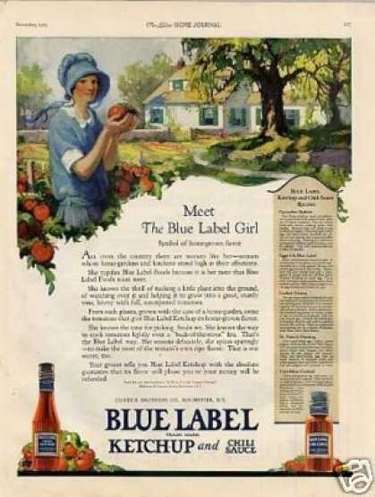 Blue Label Ketchup (1923)