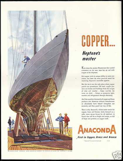 Sailboat Enterprise America's Cup Anaconda (1950)
