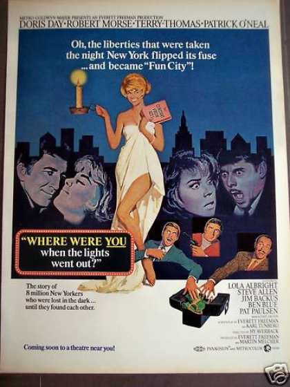 Where Were You When the Lights Went Out Movie (1968)