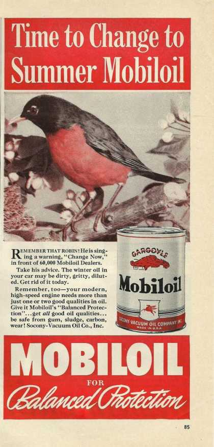 Mobiloil for Balanced Protection (1939)
