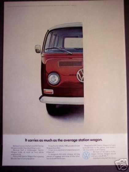 Volkswagen Vw 1/2 Station Wagon Bus Photo (1968)