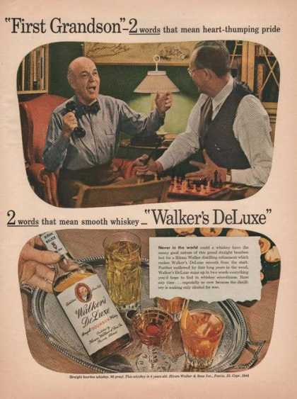 Walkers Deluxe Bourbon Whiskey (1944)