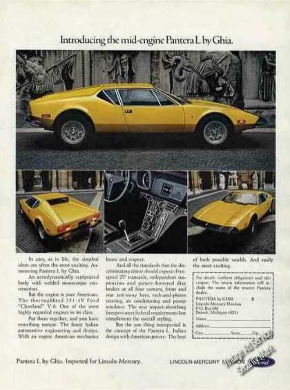 Pantera L By Ghia Introductory Photos (1973)