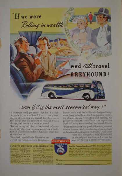 Greyhound Bus Rolling in wealth (1938)
