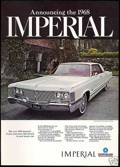 Chrysler Imperial Crown 4dr Car Photo (1968)