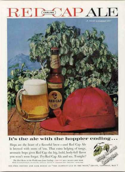 "Carling Red Cap Ale ""Hoppier Ending"" (1960)"