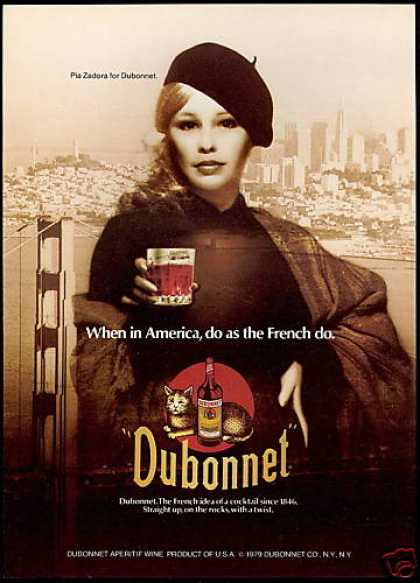 Pia Zadora Photo Dubonnet Aperitif Wine (1979)