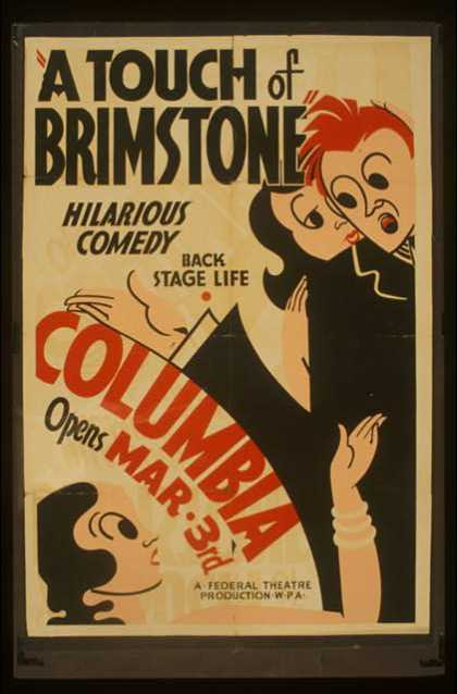 """A touch of brimstone – Hilarious comedy – Back stage life. (1936)"