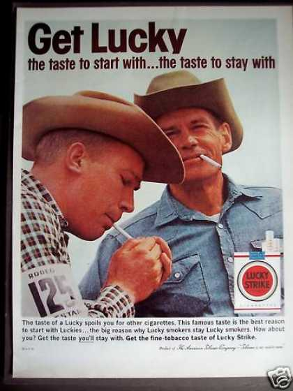 Lucky Strike Cigarettes Smoking Cowboys (1963)