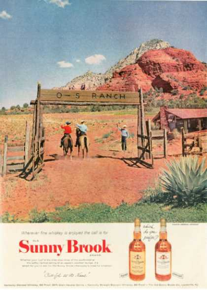 Sunny Brook Whiskey O-s Ranch Sedona Arizona (1954)