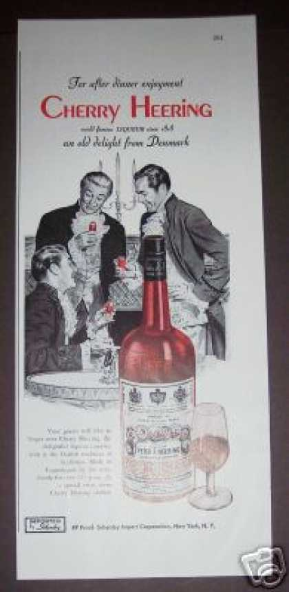 Cherry Heering Liqueur of Denmark (1947)