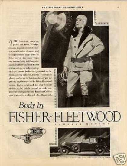 Body By Fisher Car Ad Cadillac Fleetwood/barcl (1927)