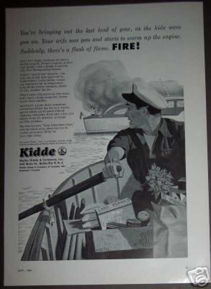 Kidde Co2 Fire Extinguisher On the Boat (1954)