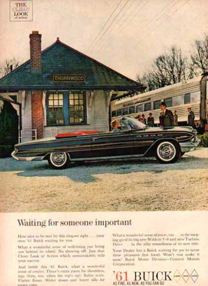 Buick Car – Buick Wildcat V-8 – Black Convertible (1961)