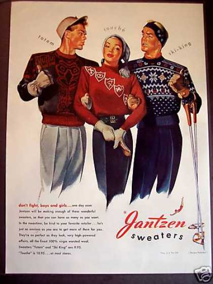 Jantzen Wool Sweaters Fashion (1946)
