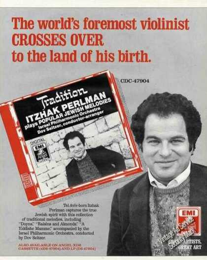 Itzhak Perlman Photos Collectible Album (1987)