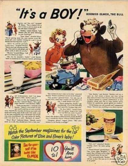 "Borden's Ad ""It's a Boy!"" (1947)"