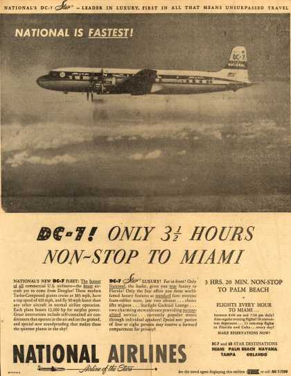 National Airline's Miami – National Is Fastest (1954)