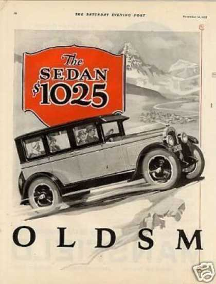 Oldsmobile Six Car Ad 2 Page (1926)
