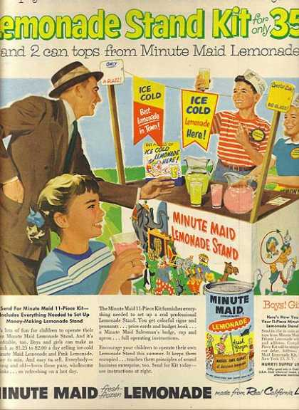 Minute Maid's Lemonade Mix (1956)