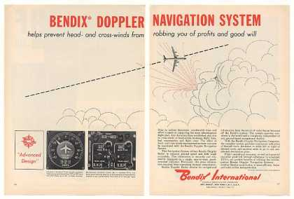 Bendix Airliner Doppler Navigation System 2-Pg (1960)