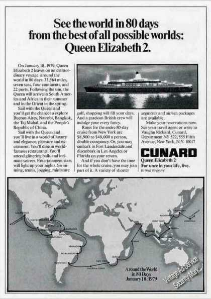 "Queen Elizabeth 2 ""See the World In 80 Days"" (1978)"