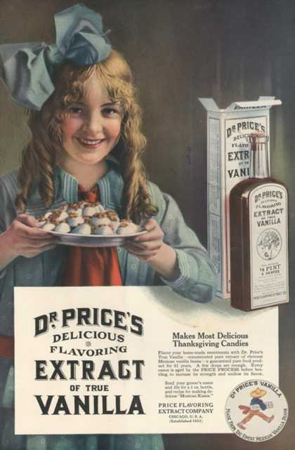 Dr Price's extract of Vanilla, USA (1914)