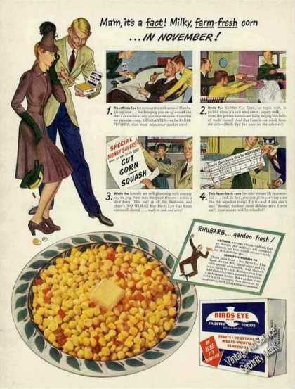 Birds Eye Milky Farm-fresh Corn In November (1942)