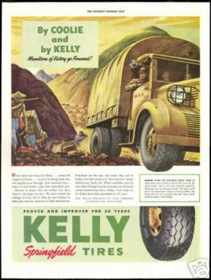 China To Russia WWII Supplies Kelly Tire (1943)