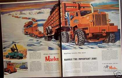 Mack Trucks Merchandise Delivery 2 Pg (1957)