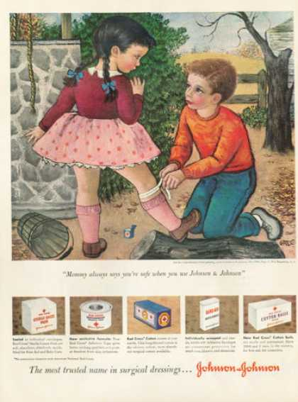 Johnson & Johnson Boy Girl Nurse (1950)